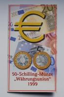 Австрия 50 шиллингов 1999 г., BU, 'Европейский валютный союз'