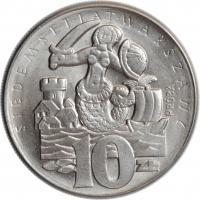 """Польша 10 злотых 1965 г., BU PROBA, """"700 лет Варшаве"""""""