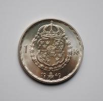 Швеция 1 крона 1949 г., UNC