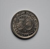 Германия 50 пфеннигов 1936 г. E, UNC, ОЧЕНЬ РЕДКАЯ