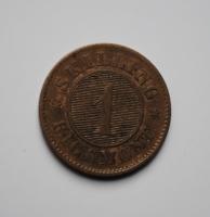 Дания 1 скиллинг 1863 г.
