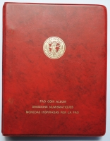 """Альбом 24 монеты мира 1969 - 1971 г., UNC-BU, """"Серия ФАО - Еда для всех"""""""