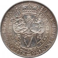 Баден 1/2 гульдена 1865 г., UNC, 'Герцог Фридрих I (1856 - 1907)'