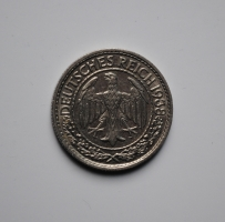 Германия 50 пфеннигов 1938 г. E, UNC, ОЧЕНЬ РЕДКАЯ