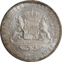 """Бавария 1 талер 1859 г., UNC, """"Король Максимилиан ІІ (1848 - 1864)"""""""