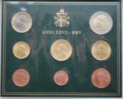 """Ватикан набор евромонет 2005 г., BU, """"264-й Иоанн Павел II (2002 - 2005)"""""""