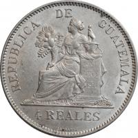 "Гватемала 4 реала 1894 г. H, UNC, ""Реал (1838 - 1912)"""