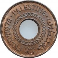 """Палестина 5 милей 1942 г., BU, """"Британский мандат (1927 - 1948)"""""""