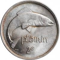 """Ирландия 2 шиллинга (флорин) 1942 г., UNC, """"Республика Ирландия (Éire) (1939 - 1969)"""""""