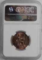 """Великобритания 1/2 пенни 1907 г., NGC MS64 RB, """"Король Эдуард VII (1902 - 1910)"""""""