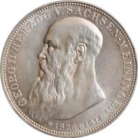 "Саксен-Мейнинген 3 марки 1915, UNC, ""Смерть Георга II Саксен-Мейнингенского"""
