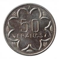 "Центральная Африка (BEAC) 50 франков 1980 г. A, BU, ""Франк КФА BEAC (1973 - 2019)"""