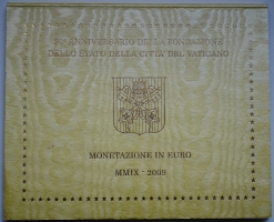 Ватикан набор евромонет 2009 г., BU, '265-й Папа Бенедикт XVI (2005 - 2013)'
