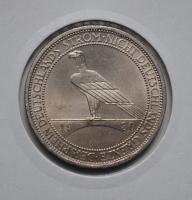 Веймар 3 марки 1930 г. A, UNC, 'Освобождение Рейнской области'