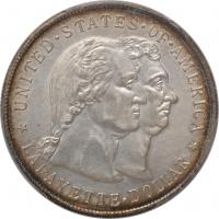 """США 1 доллар 1900 г., UNC Details, """"Возведение памятника Лафайет"""""""