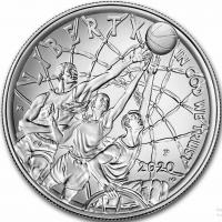 """США 1 доллар 2020 г., BU, """"Зал славы баскетбола"""""""