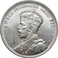 """Канада 1 доллар 1935 г., UNC, """"25 лет правлению Короля Георга V"""""""