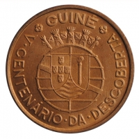 """Гвинея-Бисау 1 эскудо 1946 г., BU, """"500 лет открытию Гвинеи"""""""
