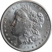 "США 1 доллар 1902 г. O, UNC, ""Доллар Моргана"""