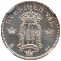 """Бельгия 2 сантима 1909 г. DES, UNC, """"Король Леопольд II (1865 - 1909)"""""""