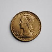 Французское Сомали 20 франков 1952 г., UNC, 'Колония Франции (1948-1965)', РЕДКОЕ СОСТОЯНИЕ