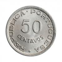 """Кабо-Верде 50 сентаво 1949 г., UNC, """"Португальская колония (1914 - 1974)"""""""