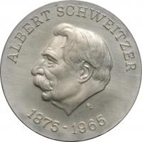 """ГДР 10 марок 1975 г., BU, """"100 лет со дня рождения Альберта Швейцера"""""""