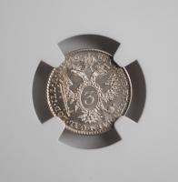 Австрия 3 крейцера 1846 г. A, NGC MS64, 'Император Фердинанд I (1835 - 1848)'