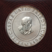 ГДР 10 марок 1974 г., UNC, '200 лет со дня рождения Каспара Давида Фридриха'