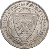 "Веймар 5 рейхсмарок 1927 г. A, BU, ""100 лет Бремерхафену"""