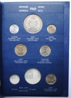 """Альбом 32 монеты мира 1971 - 1973 г., UNC-BU, """"Серия ФАО - Еда для всех"""""""