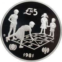 """Мальта 5 лир 1981 г., PROOF, """"ЮНИСЕФ"""""""