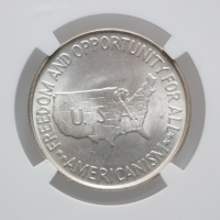 "США 50 центов 1952 г., NGC MS64, ""Джордж Вашингтон Карвер и Букер Талиафер Вашингтон"""