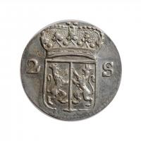 """Нидерланды (Гелдерланд) 2 стивера 1785 г., AU, """"Голландская Республика (1701 - 1794)"""""""