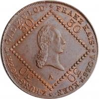 """Австрия 30 крейцеров 1807 г. A, UNC, """"Император Франц II (1806 - 1835)"""""""