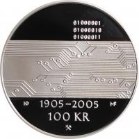 "Норвегия 100 крон 2005 г., PROOF, ""100 лет Независимости"""