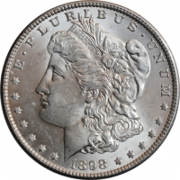 "США 1 доллар 1898 г. O, BU, ""Доллар Моргана"""