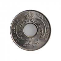 """Британская Западная Африка 1/10 пенни 1923 г. KN, BU, """"Король Георг V (1910 - 1936)"""""""