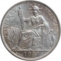 """Индокитай 20 сантимов 1937 г., UNC, """"Французский Индокитай (1885 - 1954)"""""""