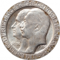 "Пруссия 3 марки 1910 г., BU,""Берлинский университет"""