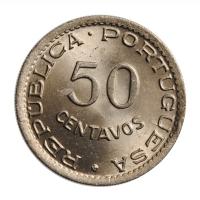 """Кабо-Верде 50 сентаво 1949 г., BU, """"Португальская колония (1914 - 1974)"""""""