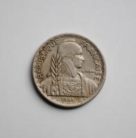 Индокитай 10 сантимов 1941 г., XF, 'Французский Индокитай (1885-1954)'