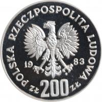 "Польша 200 злотых 1983 г., PROOF PROBA, ""300-летие осады Вены"""