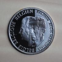 Бельгия 250 франков 1998 г., PROOF, '5 лет со дня смерти Короля Бодуэна'