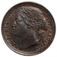 """Великобритания 1/3 фартинга 1885 г., UNC, """"Королева Виктория (1838 - 1901)"""""""