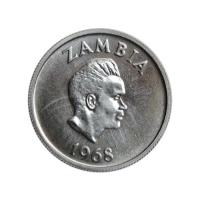 "Замбия 5 нгве 1968 г., PROOF, ""Президент Кеннет Каунда (1964 - 1991)"""
