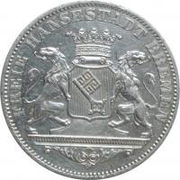 """Бремен 36 гротенов 1864 г., AU Details, """"Вольный ганзейский город Бремен (1806 - 1871)"""""""