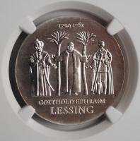 ГДР 20 марок 1979 г., NGC MS67, '250 лет со дня рождения Готхольда Эфраима Лессинга'