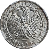 """Веймар 3 рейхсмарки 1928 г., NGC MS64, """"400 лет со дня смерти Альбрехта Дюрера"""""""