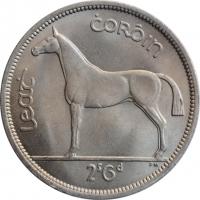 """Ирландия 1/2 кроны 1964 г., BU, """"Республика Ирландия (Éire) (1939 - 1969)"""""""
